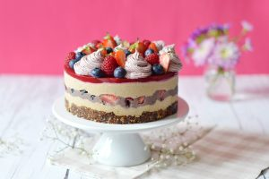 Cheesecake vegan aux fruits rouges