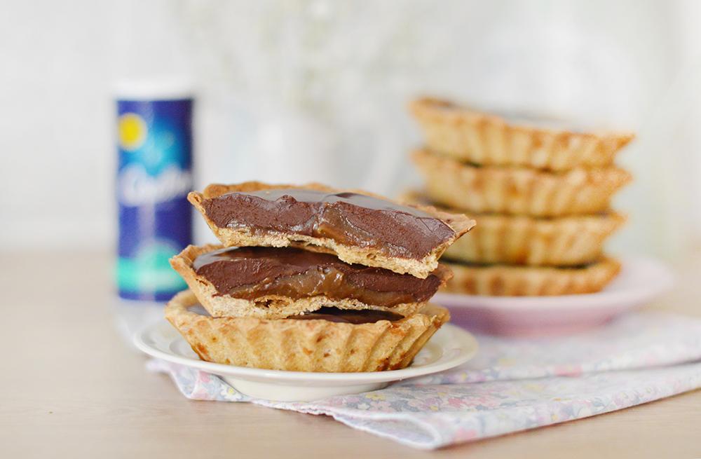 Tartelettes au caramel salé et au chocolat (vegan, sans gluten)