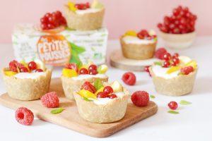 Tartelettes au yaourt avec Les Petites Pousses (vegan, sans gluten)