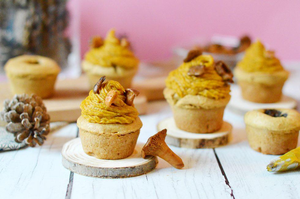 Pour les fêtes, les champignons sauvages cueillis à la main et surgelés de chez Magda sont de très bons produits à avoir sous la main et ils m'ont d'ailleurs inspiré cette recette de cupcakes aux champignons et potimarron.
