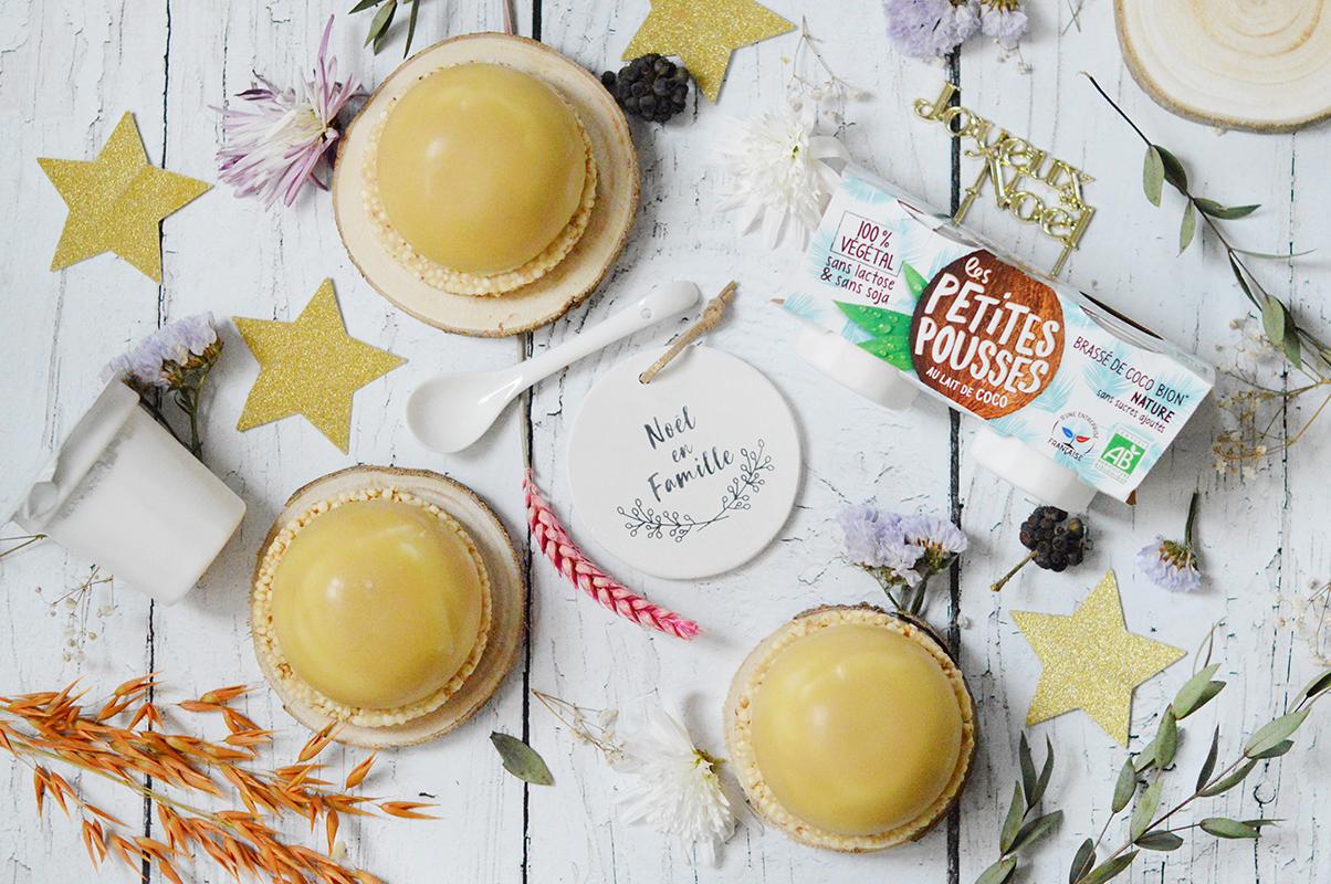 Dômes coco – chocolat blanc coeur fruits exotiques avec Les Petites Pousses