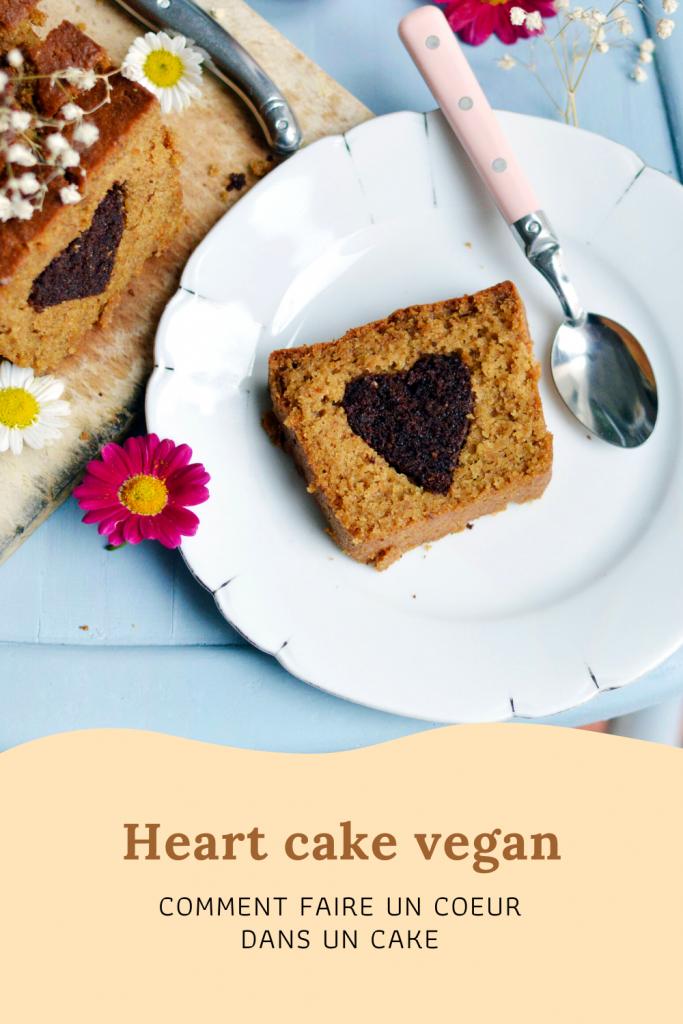 Heart cake vegan : comment faire un coeur dans un cake