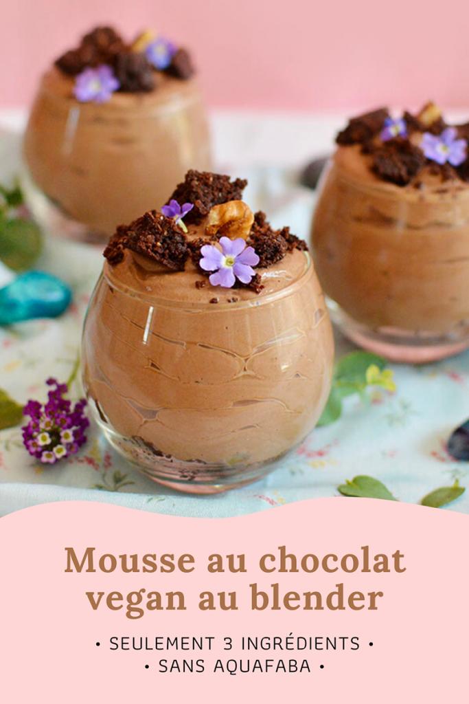 Mousse au chocolat vegan au blender : sans aquafaba, avec seulement 3 ingrédients