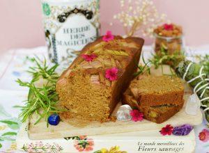 Cake rhubarbe, romarin et amande (vegan)