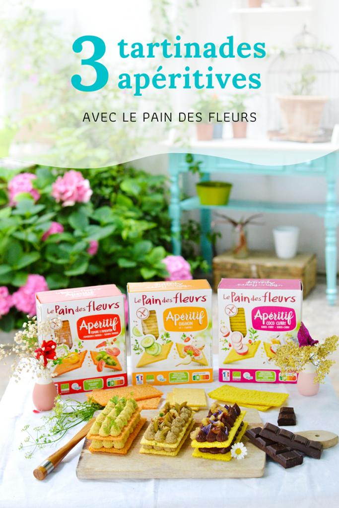 3 tartinades apéritives vegan avec le Pain des Fleurs